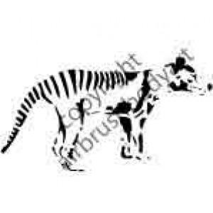 0262 tazzie tiger reusable stencil
